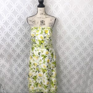 5 for $25| Ann Taylor Strapless Floral Midi Dress